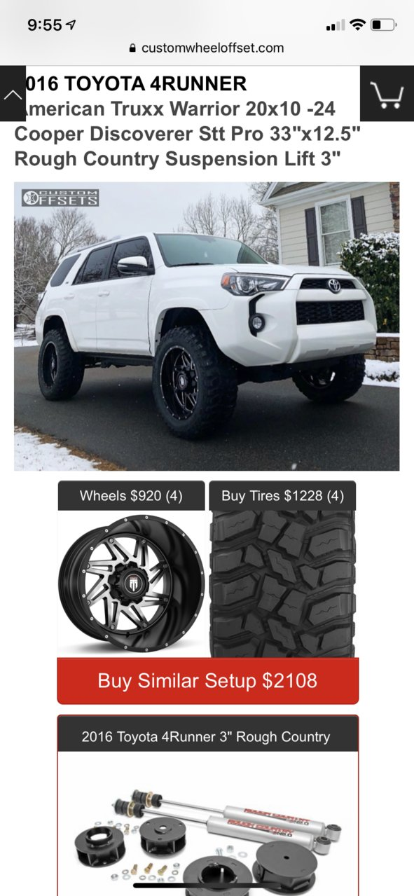 Is 44 Offset Possible With 3inch Lift Toyota 4runner Forum 4runners Com