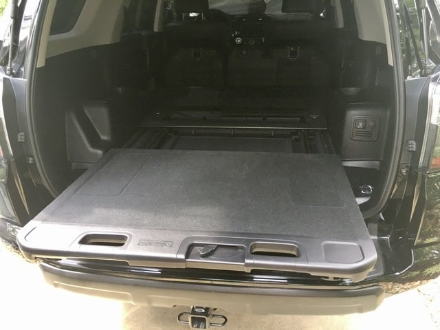 cargo 4runner rear deck sliding toyota storage floor under compartment install gear supports 440lbs included condition easy parts great