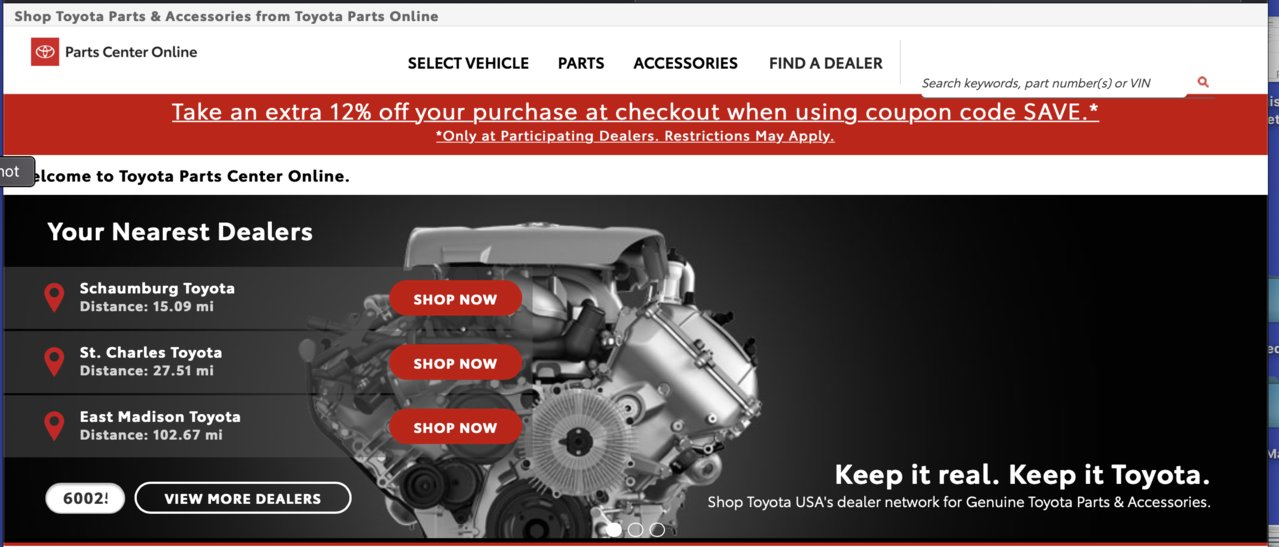 Toyota parts 12% Sale | Toyota 4Runner Forum [4Runners com]